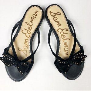 Sam Edelman Black Studs and Bow sandals